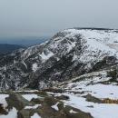 Pohled na lavinový Kotel seshora