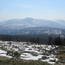 Výhledy od Petrovy boudy na východní část Krkonoš jsou odsud fantastické,