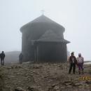 Na vrcholu - momentálně jej ale přikryl hustý mrak