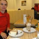 Cukrárna v Bad Schandau (z léta nám zbylo spoustu eur, tak utrácíme)