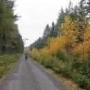Do výběžku nezajíždíme, otáčíme směr na jihovýchod, směr Český les. Už se těšíme na signálky.