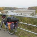 Vypuštěná vodní nádrž Skalka a moje kolo