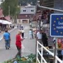 V Českém Jiřetíně se vracím zpět do Čech, nechybí typická tržnice