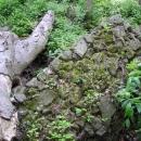 Celé bloky zdí popadaly do hradního příkopu