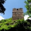 Nejzachovalejší místo hradu – věž na níž je i vyhlídka