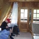 Nocleh v nejvyšším patře chaty pod Skalanka