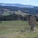 Šárka pod Bukovou horou (tam se ještě poslední víkend lyžovalo)