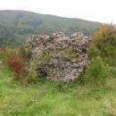 Skrovné zbytky hradu Hoštejna