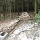 Nově budovaný pramen u lanškrounských rybníků