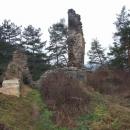 Zbytky hradního paláce na Libštejně