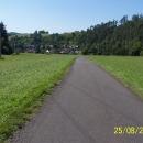 Pohled na Hoštejn od Moravské Sázavy