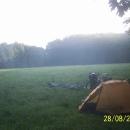 Poslední nocleh výpravy na louce nedaleko Olomouce