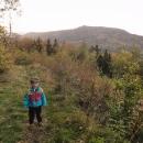 Cestou jsme si (pěšky) odskočili na vrchol Sokol, na kterém kdysi dávno stál hrad Starý Falkenburk