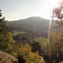 Výhled z hradu na Hochwald (dnes už tam nemusíme :-)