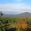 Výhled na Lužické hory,  napravo hora Jedlová, kam nejdeme