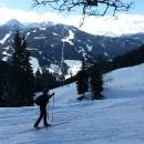 Luděk si zvolil nádherný okruh kolem kopce Rittisberg, kde my jsme lyžovali