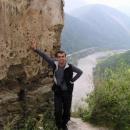 Pavel pózuje nad údolím Váhu