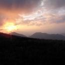 Západ slunce nad Fatrou
