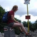 Vrchol Záruby 768 m n. m.dosažen
