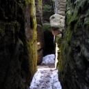 Tajemné úzké uličky bludiště Chléviště