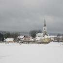 Frymburk typický svým gotickým kostelem