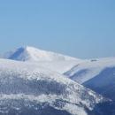 Sněžka a Luční Bouda v dáli