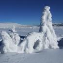 Ledová idylka na krkonošských pláních
