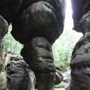 Skalní útvar Kuří noha v Bledných skalách
