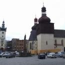 Náchodské Masarykovo náměstí s kostelem sv.Vavřince