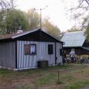 Naše luxusní chatka na břehu rybníka Brodský