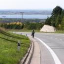 Cestou do Náchoda (v pozadí vodní nádrž Rozkoš)