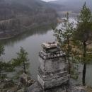 Vyhlídka pod Rabštejnem nad přehradou Mohelno