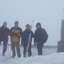 Na vrcholu Luže (Markéta, Kamil, Pavel, Luděk)