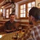 Ještě zastavení na pivko v Borovanech