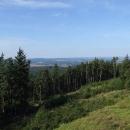 Teprve pokácením lesa se rozhledně opět vrátil výhled