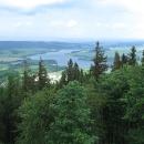 Výhled z rozhledny na Slezskou Hartu