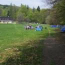 Na Rabštejně také táboří mnoho horolezců