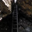 Na vrchol Rabštejna se musí po žebříku
