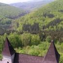 Nádherná jarní zelená barva se rozlévá kolem Sovince