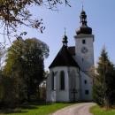 Znovuopravený kostel v Cetvinách