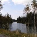 Pohořský rybník u bývalé osady Jiřice - nádrž sloužila jako zásoba vody pro plavení dřeva