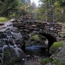 Mostek přes Lužnici v Novohradských lesích
