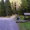 Místo pro svačinu - všude kolem jen hluboké lesy