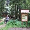 Dorazili jsme k bráně Žofínského pralesa