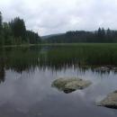Panorama Huťského rybníka je okouzlující po celý rok
