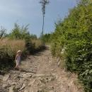 Cyklotrasa podél Moravice je hodně terénní záležitost