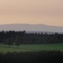 Večerní výhled z Červené hory na Praděd