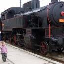 V Letohradě jsme si čekání na přípoj zkrátili prohlídkou putovního muzea v parní mašince