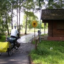 Hraniční přechod do Německa na cyklostezce
