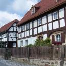 Německé hrázděné domy typické pro tuto oblast